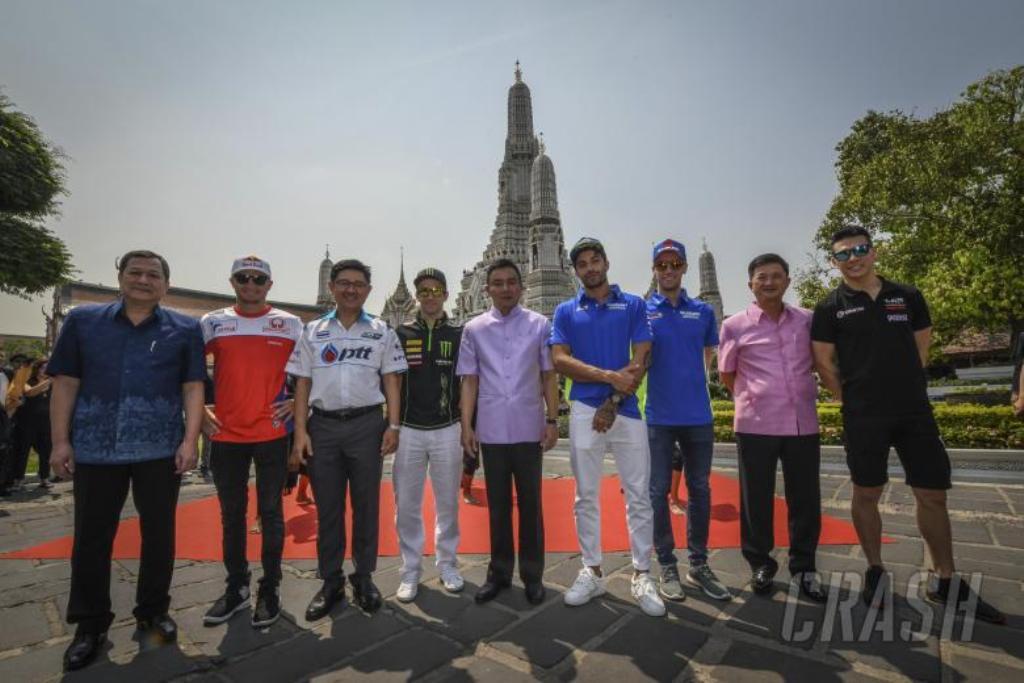 Tes Pramusim: Tiba di Bangkok, Pembalap MotoGP Disambut PM Thailand