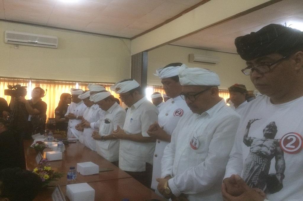 Doa dari Tokoh Agama Memulai Kampanye Serentak Pilgub Bali