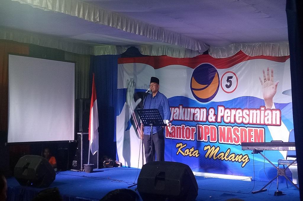 NasDem Malang Koordinasikan Target Pileg 2019 di Kantor Baru