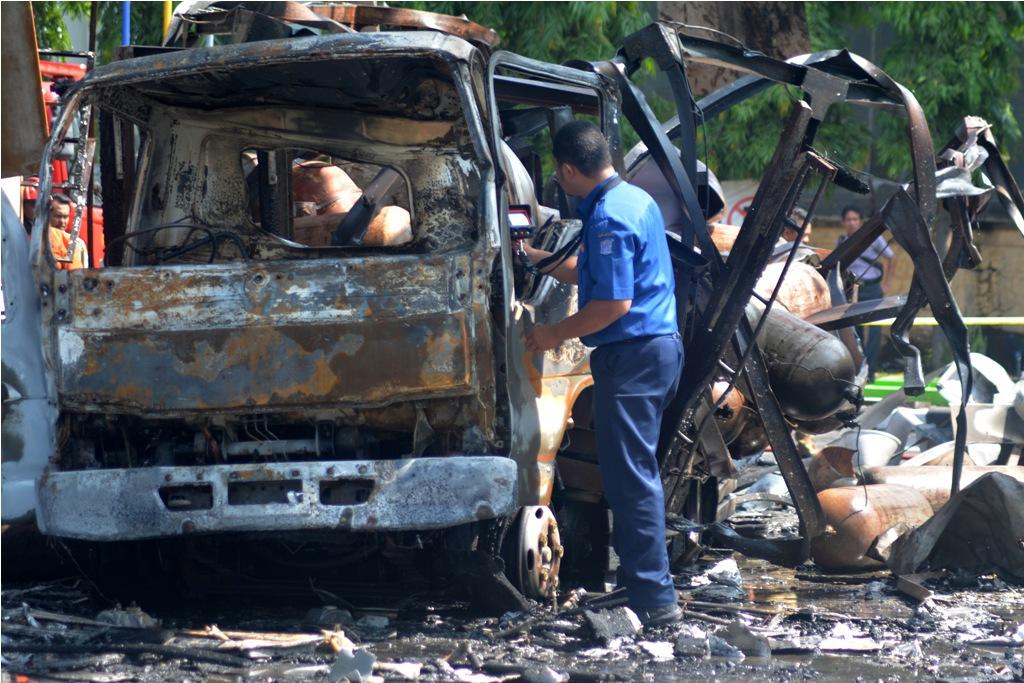 Polisi Periksa Saksi Kebakaran SPBU Brebek
