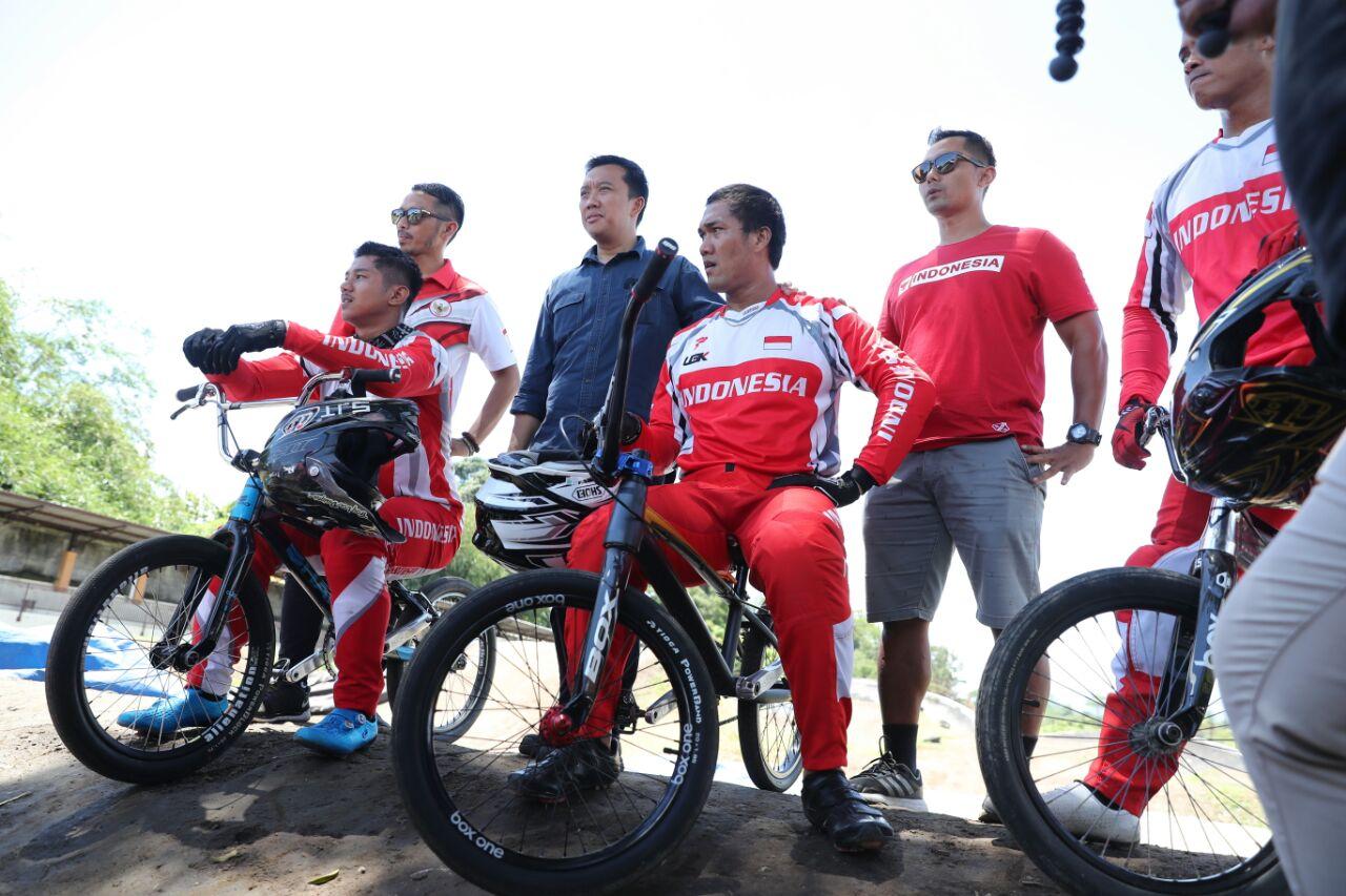 Pesan Menpora pada Atlet BMX Jelang Asian Games
