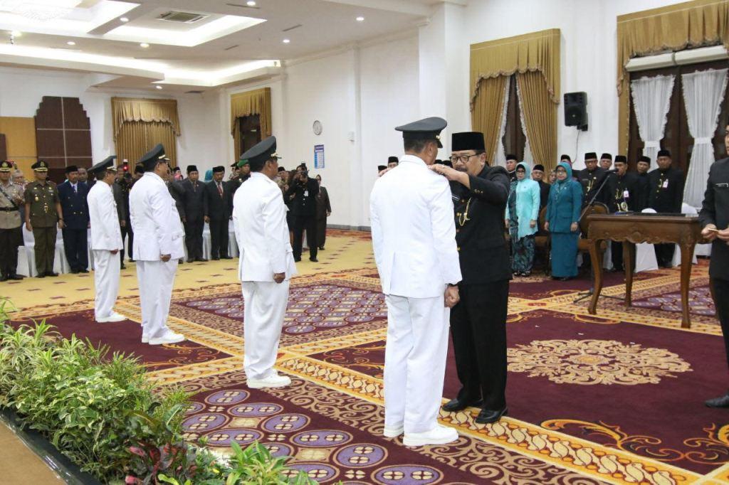Purna Tugas, Soekarwo Lantik Empat Penjabat Bupati