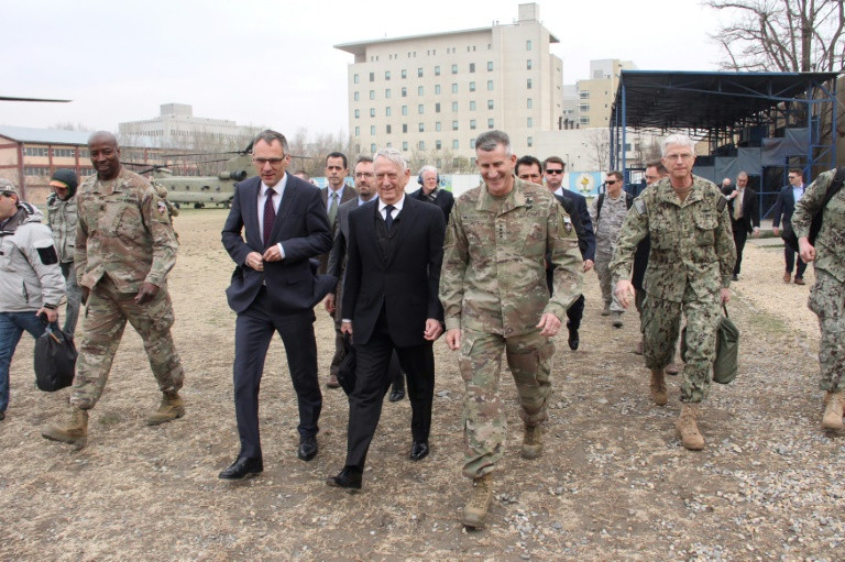 Mattis in Kabul, Says Elements in Taliban Open to Peace Talks