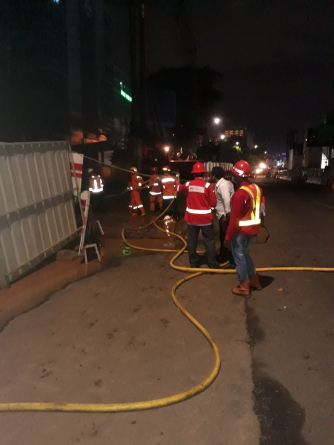 Pipa Gas Depan BNN Kembali Bocor