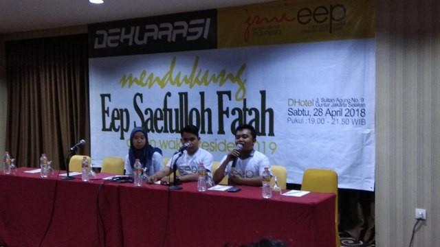 JMI Deklarasi Tanpa Koordinasi dengan Eep Saefulloh
