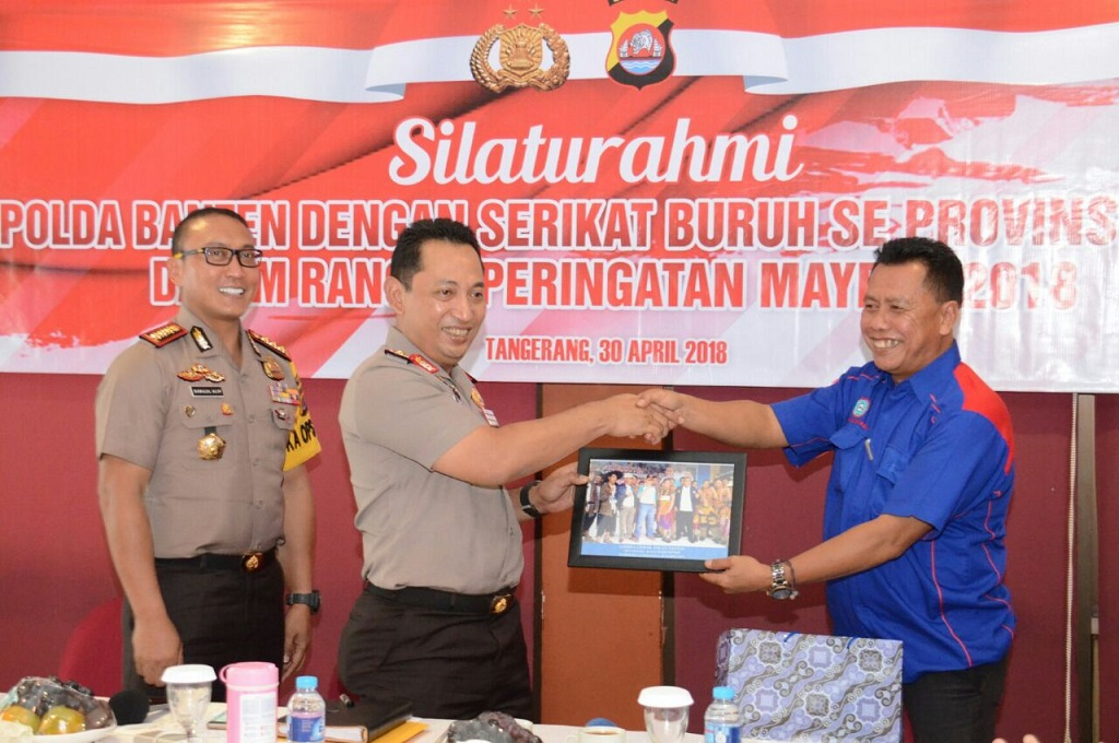 Jelang <i>May Day</i>, Kapolda Banten Bersilaturahmi dengan Serikat Buruh