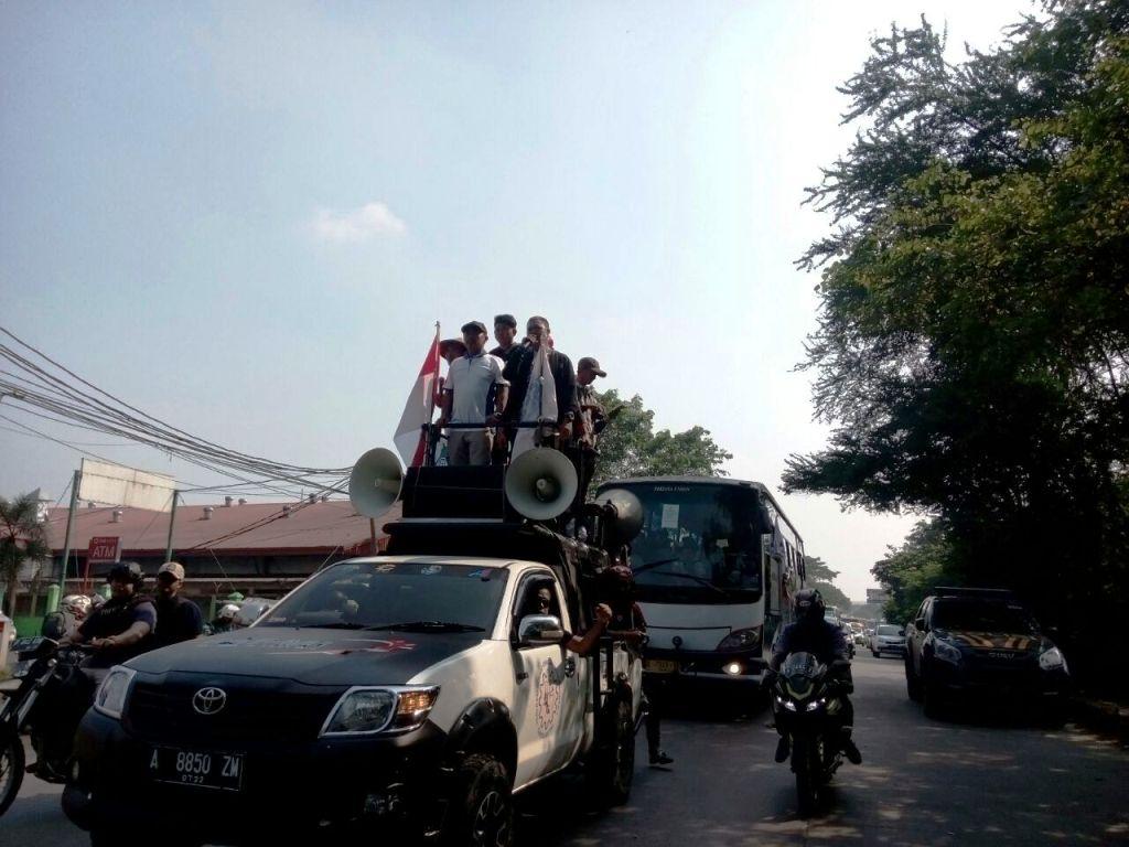 Ribuan Buruh Tangerang Bergerak ke Jakarta