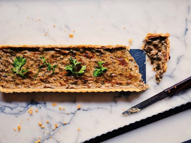 Resep Mushroom dan Clam Tart