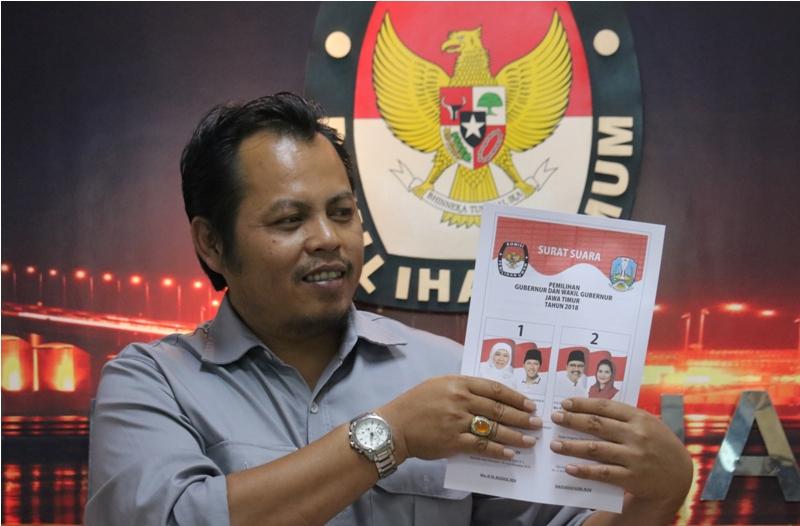 KPU Surabaya Gelar Simulasi Pencoblosan Pilkada Jatim