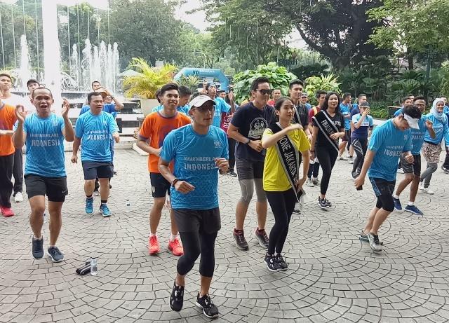 Sandi Berlari Bersama Abang None Jakarta 2018