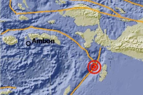 Gempa Guncang Tenggara Tual-Maluku