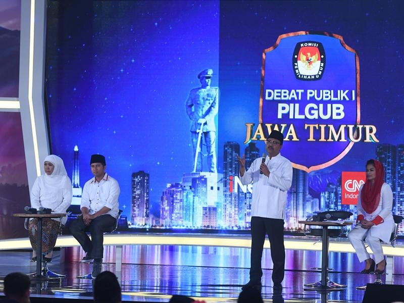 Debat II Pilgub Jatim Bahas Ekonomi dan pembangunan