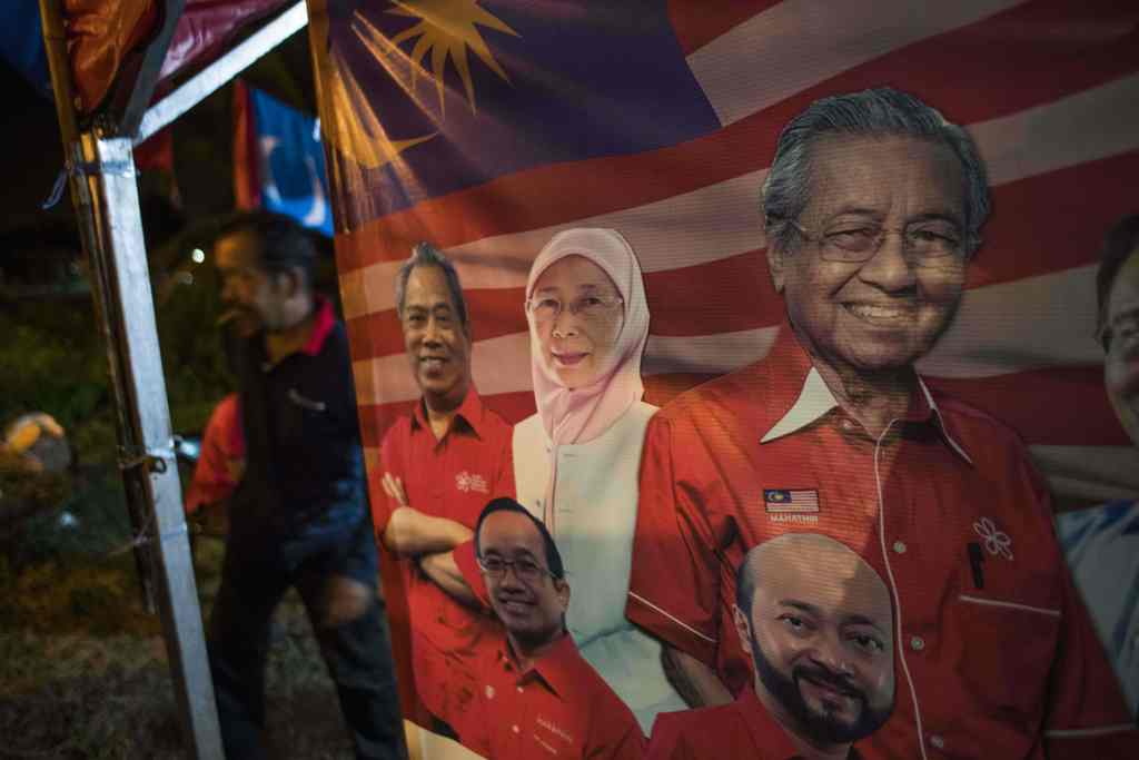 Warga di TPS Taman Bukit Cheras Jagokan Mahathir Mohamad
