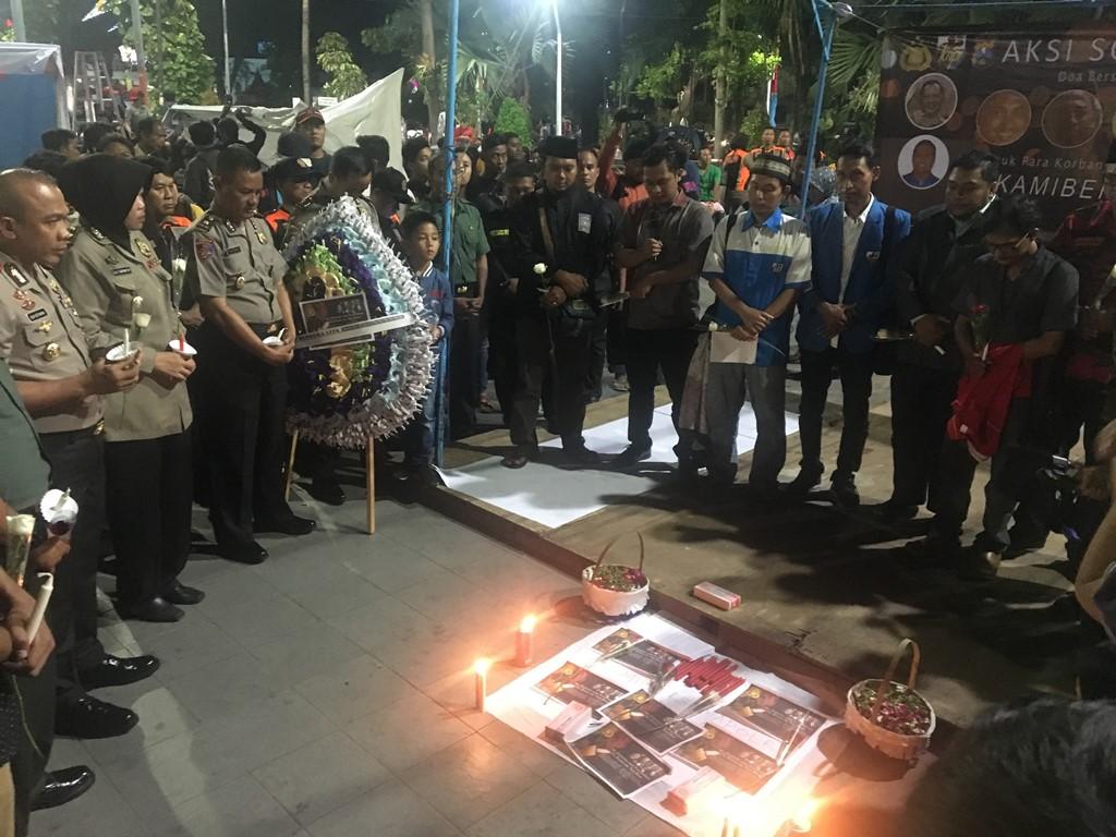 Jatim Gelar Aksi Solidaritas atas Gugurnya 5 Polisi