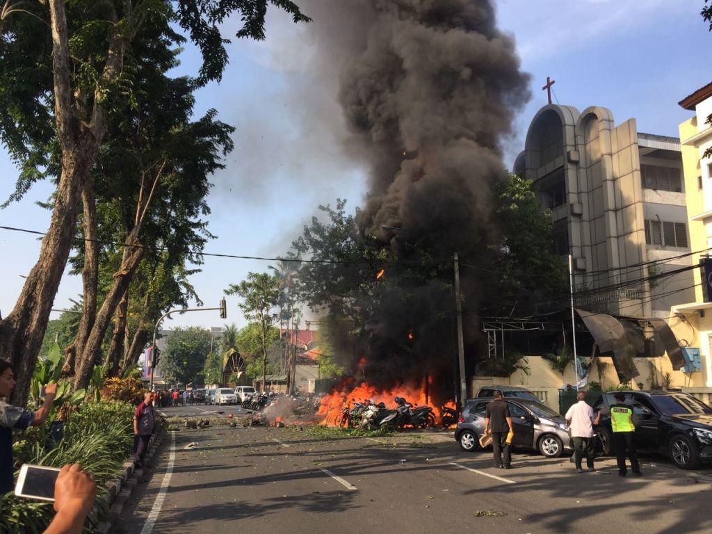 Satpam Gereja GKI Diponegoro Sempat Mencegat Terduga Pelaku