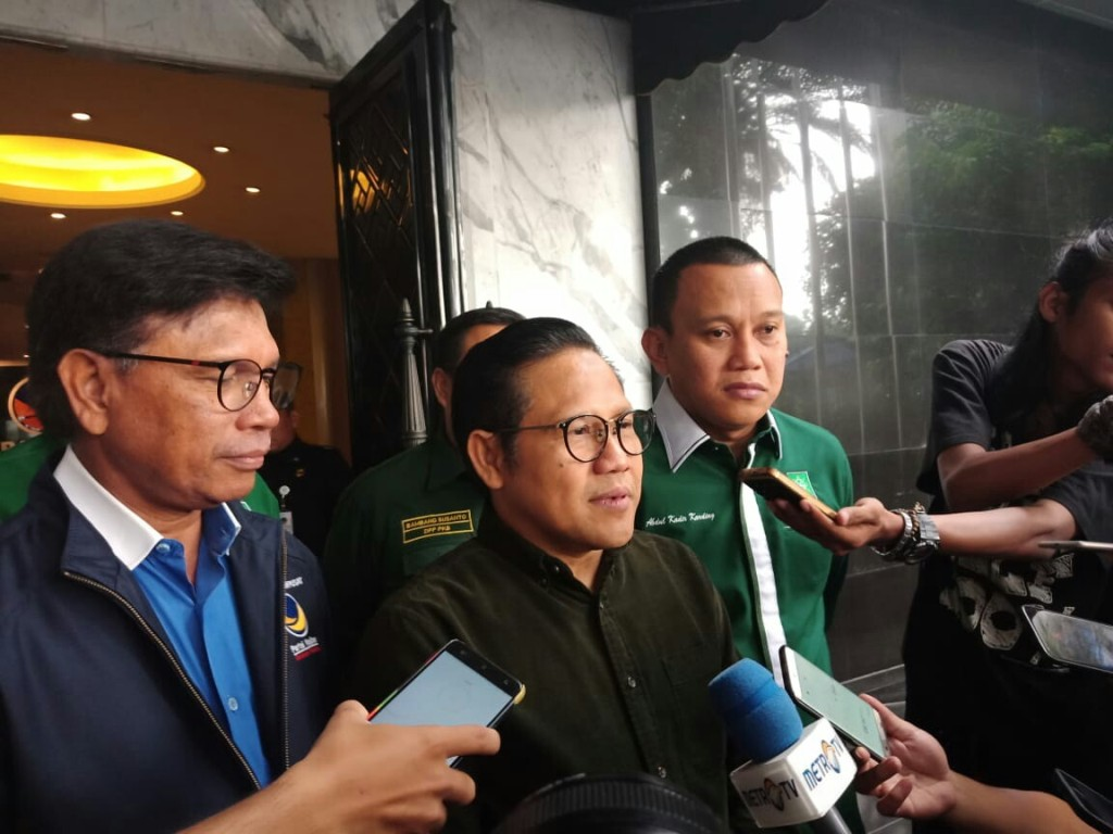Cak Imin Minta Restu Surya Paloh jadi Cawapres Jokowi