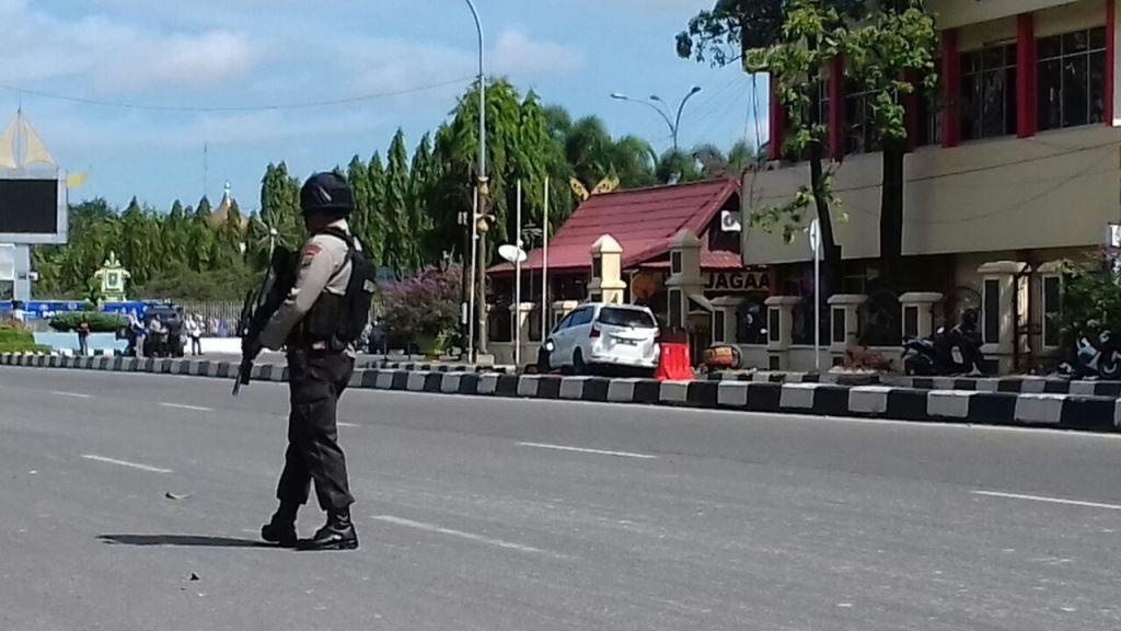2 Terduga Teroris di Mapolda Riau Dilumpuhkan