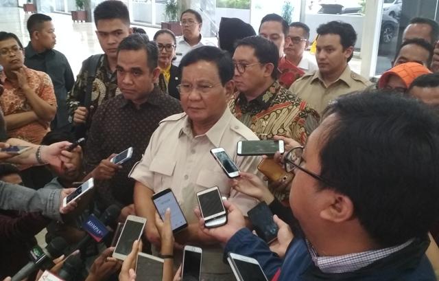 Prabowo Minta Semua Bersatu Lawan Teroris