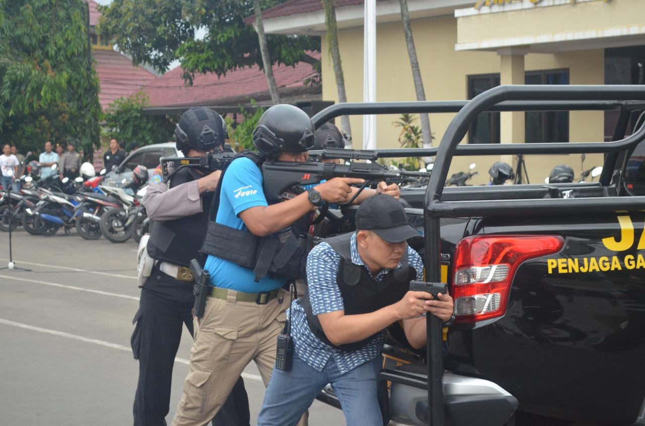 Polisi di Depok Simulasi Penanganan Teroris