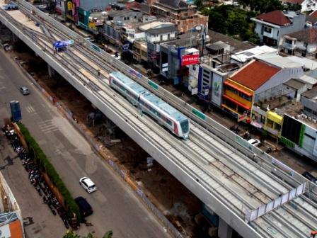 Progres LRT Jabodebek Baru 39 Persen