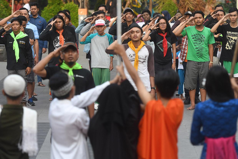Mapala se-Surabaya Gelar Aksi Tolak Teroris dan Koruptor