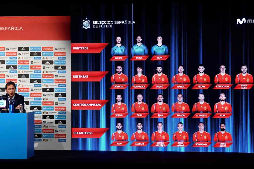 Skuat Spanyol di Piala Dunia Minus Alvaro Morata dan Cesc Fabregas