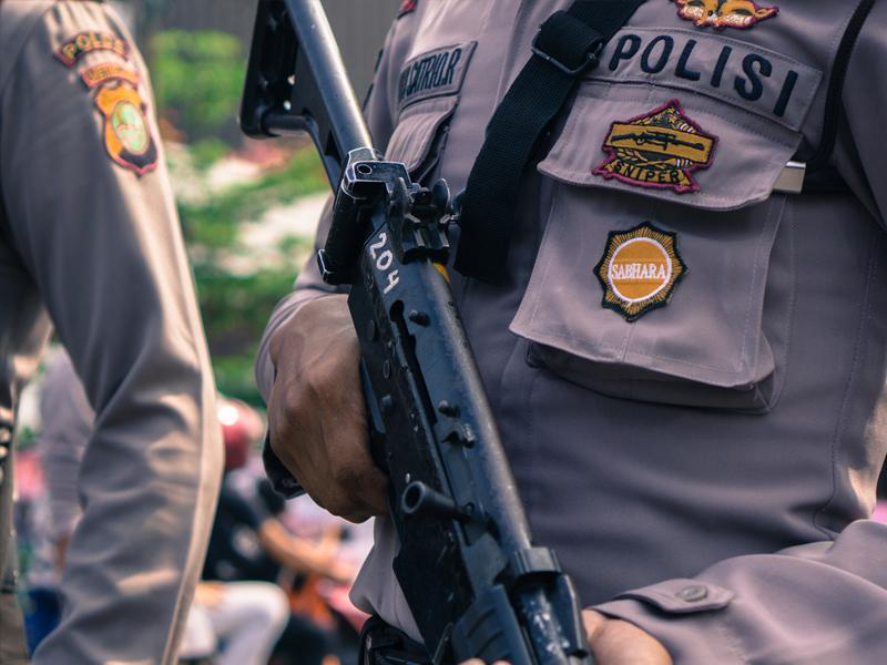 Pelipatan Kertas Suara Dikawal Polisi Bersenjata