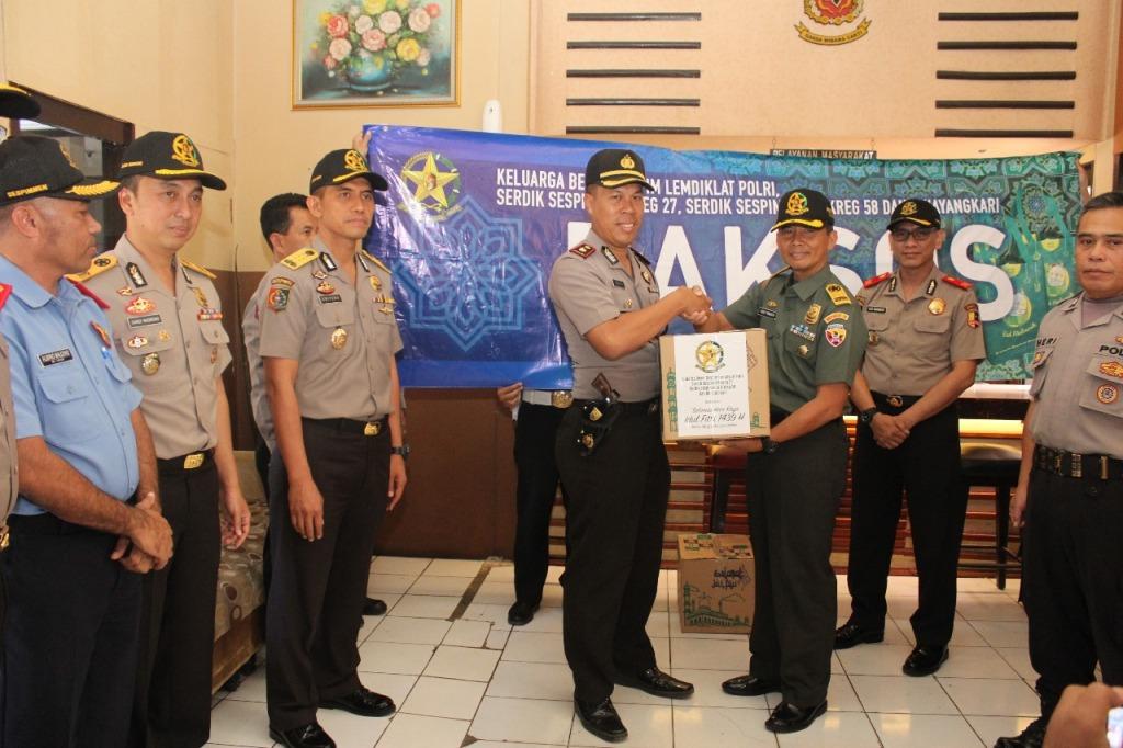 Siswa Sespim Polri-TNI Gelar Baksos Jelang Ramadan