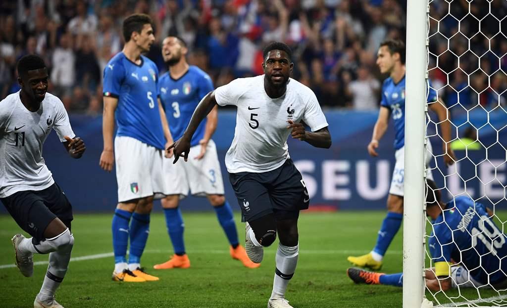 Timnas Prancis Menang Telak atas Italia
