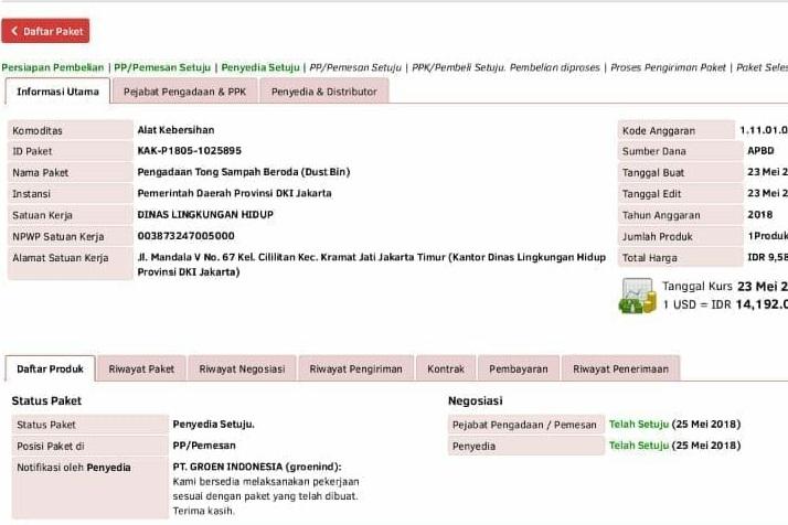 DKI Pesan Tong Sampah Hingga Rp9,58 Miliar