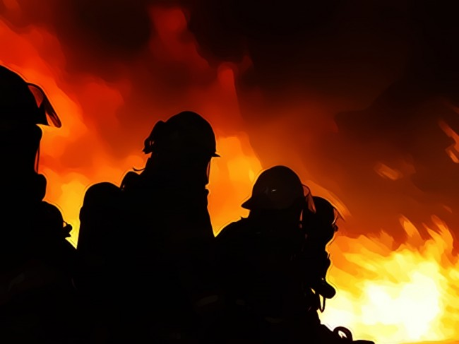 Pabrik Kertas Pakerin Sidoarjo Terbakar