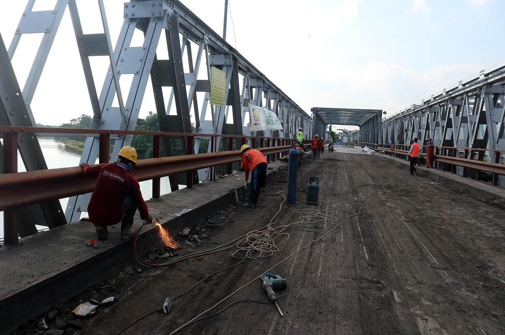 Uji Coba Jembatan Widang belum Dapat Dilakukan