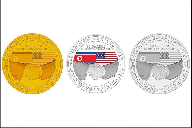 Rp19 Juta untuk Medali Emas Bergambar Tangan Trump dan Kim Jong-un