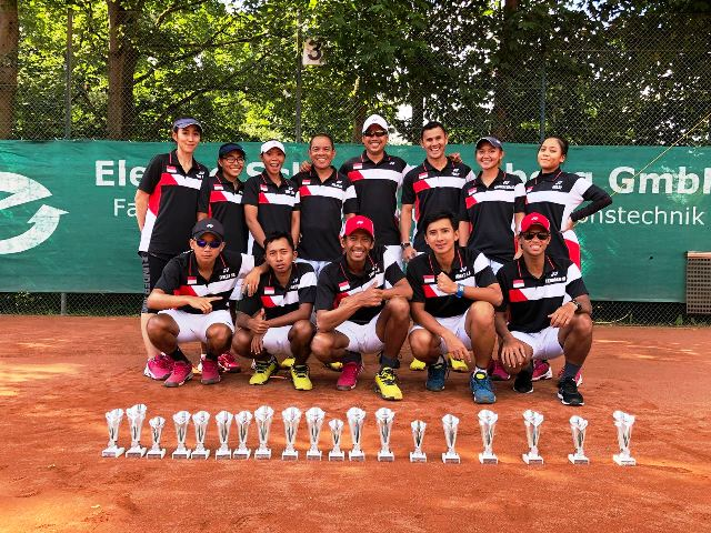 Atlet Soft Tenis Indonesia Berjaya di Jerman