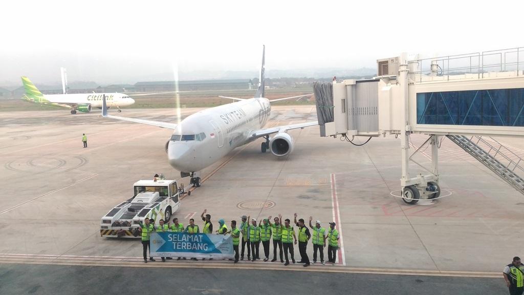 Perdana, Terminal Baru Bandara Ahmad Yani Terbangkan Garuda