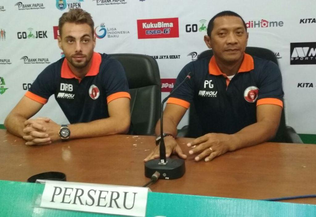 Janji Pelatih Perseru Jelang Melawan Arema