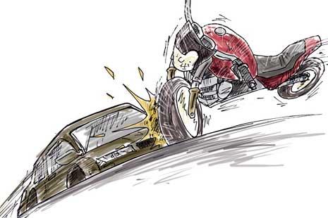 Motor Tabrak Pembatas Jalan, 2 Orang Tewas