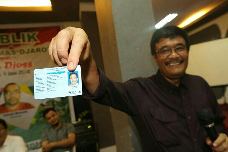 Djarot Saiful Hidayat Resmi Jadi Warga Medan