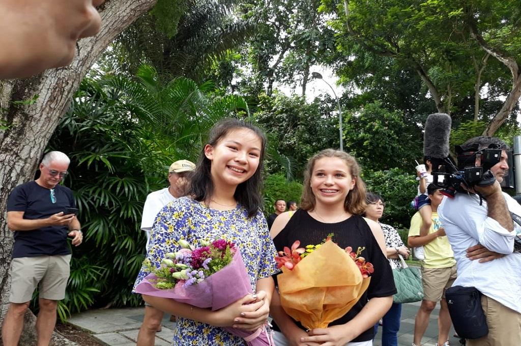 Bunga Perdamaian Pelajar Singapura untuk Kim Jong-un