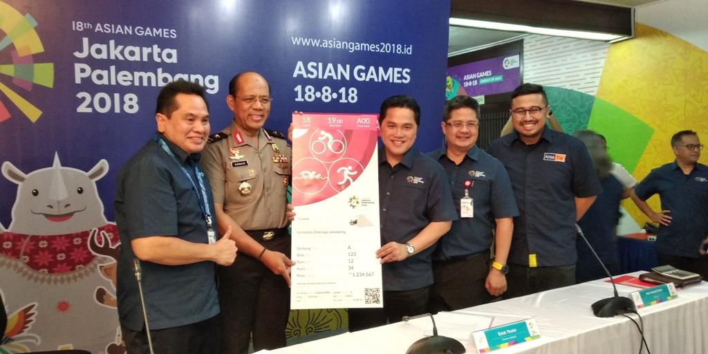 Tiket Asian Games Dijual Mulai Rp30 Ribu