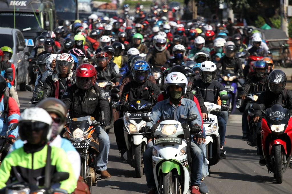 Jumlah Pemudik Sepeda Motor Berkurang