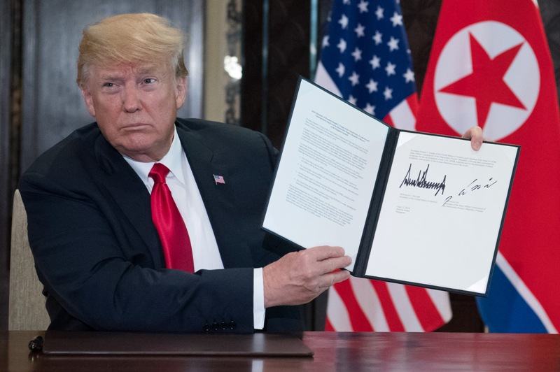 Dokumen Tanda Berakhirnya Pertemuan Trump-Kim Jong-un