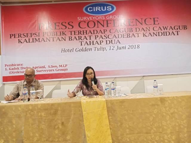 Debat Kandidat Pengaruhi Elektabilitas Cagub Kalbar