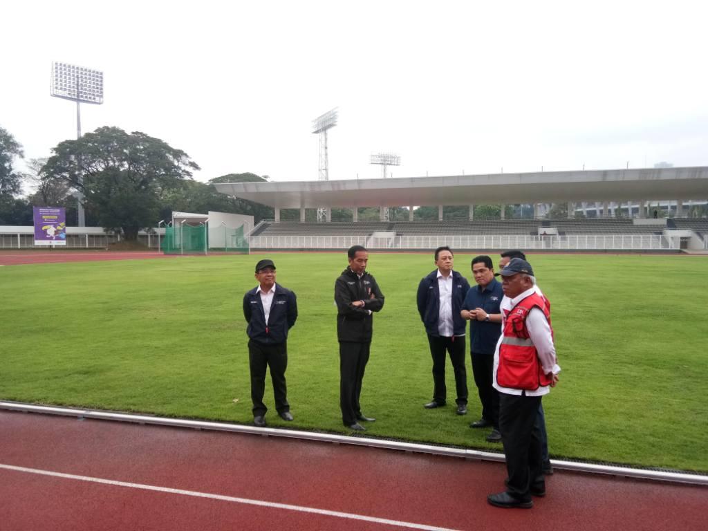 Jokowi Pastikan GBK Siap untuk Asian Games