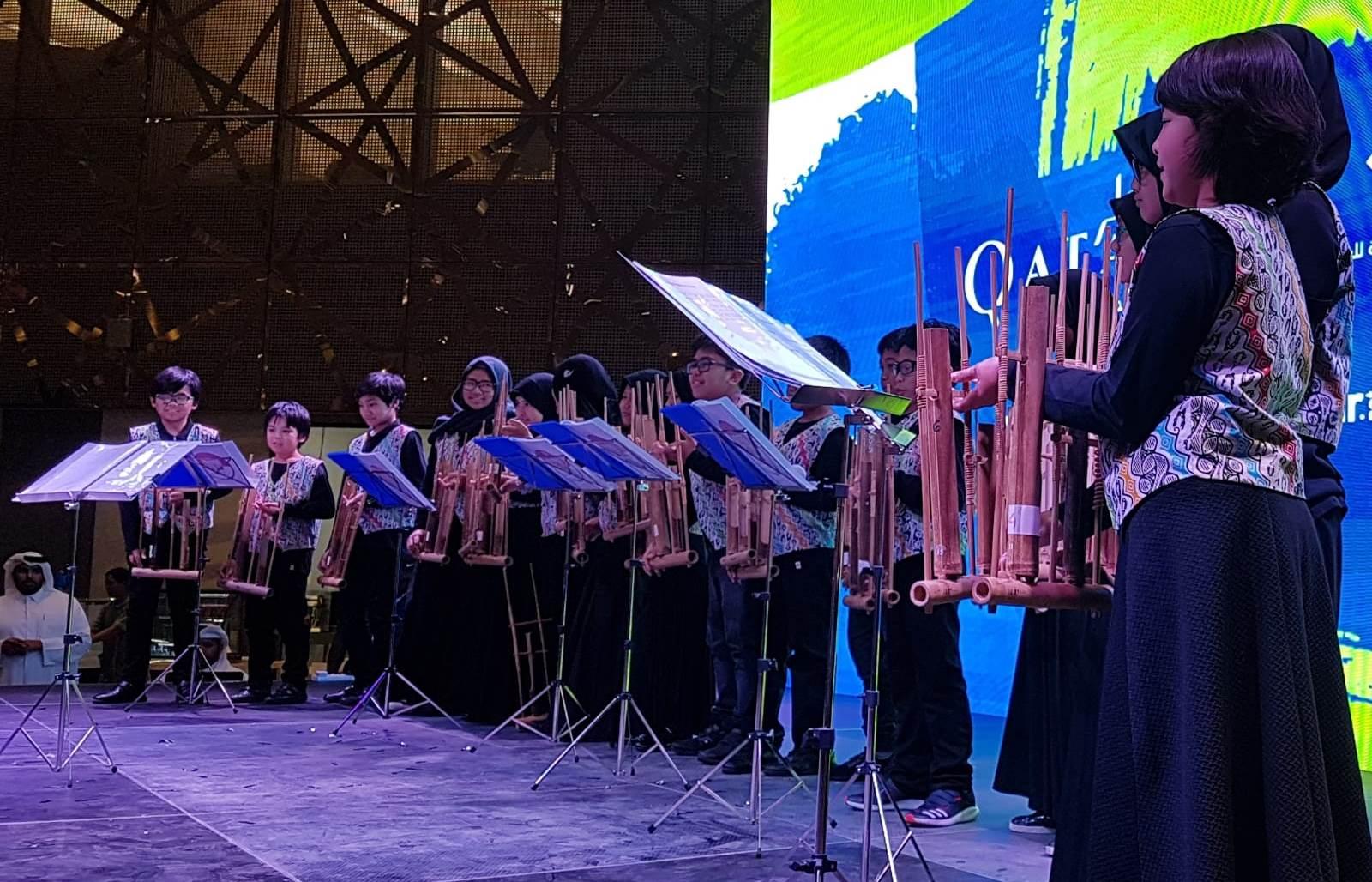 Alunan Musik Angklung Hadir di Festival Musim Panas Qatar