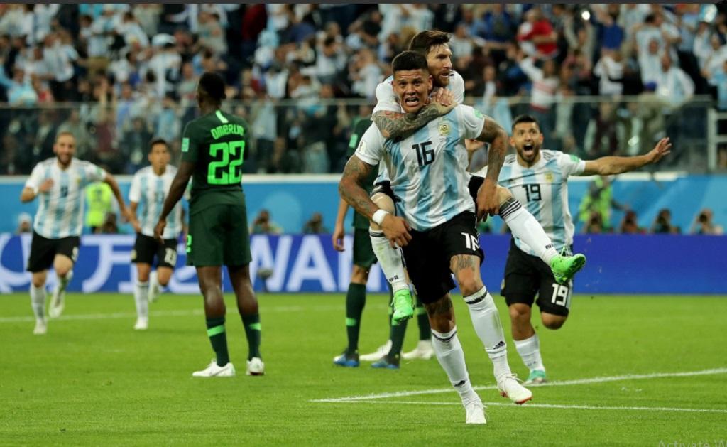 Dramatis, Marcos Rojo Bawa Argentina Lolos ke Babak 16 Besar