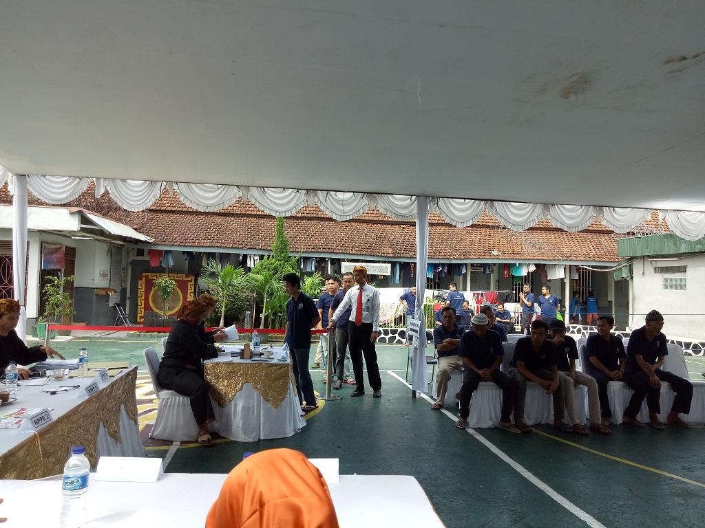 222 Napi Mencoblos di Lapas Klas II A Bogor