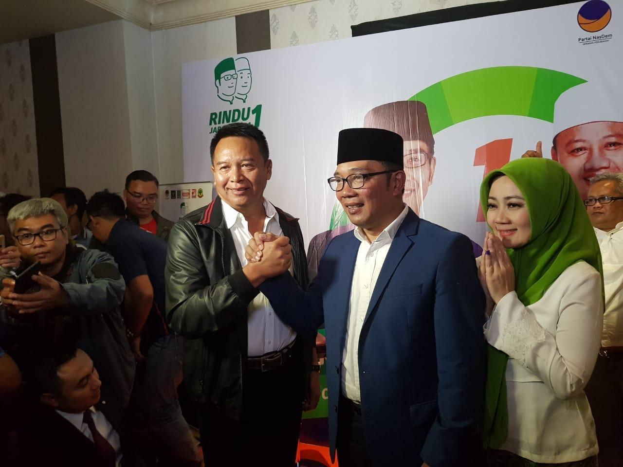 Kang Hasan Ucapkan Selamat ke Ridwan Kamil