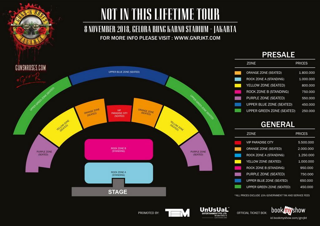 Tiket Reguler Konser Guns N' Roses di Jakarta Mulai Dijual Hari Ini
