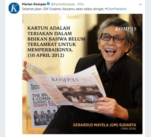 Karikaturis GM Sudarta 'Oom Pasikom' Meninggal